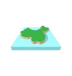 Map of china cartoon style vector image