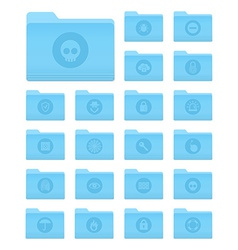 OS X Folders with Security Icons vector image