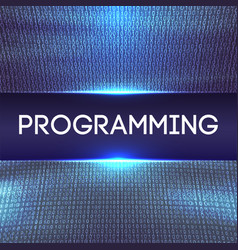 Programming code abstract technology background vector