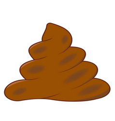 realistic turd brown feces cartoon shit vector image