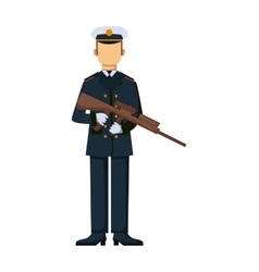 Usa troop armed forces man with weapon vector