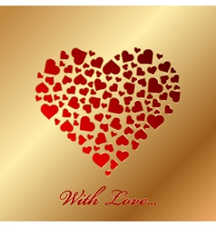 With love vector image