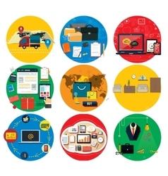 Business online social media delivery concept vector