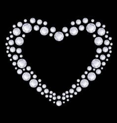 diamonds heart vector image