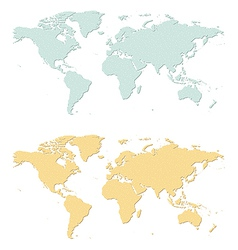 Earth map vector