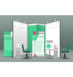 Exhibition Stand Concept vector image