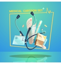 Medical Object Set vector image