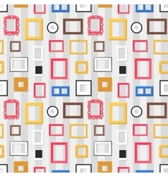 Photo frame seamless pattern vector image