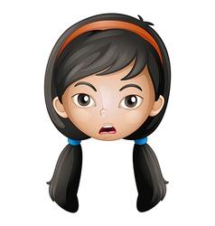 A face of a girl vector image vector image