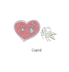 Cupid Creating Love vector image vector image