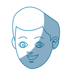 drawing face boy smiling avatar design vector image