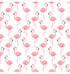 flamingo seamless pattern pink flamingo standing vector image