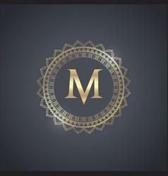 luxury brand design vector image vector image