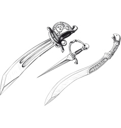 Set of Weapon vector image vector image