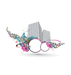 Abstract urban city vector image vector image