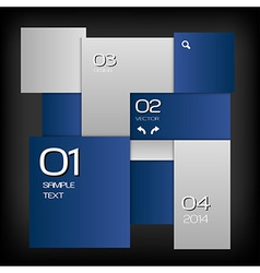 business squares template blue dark with text vector image