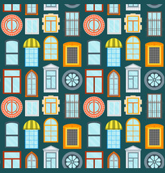 cartoon windows background pattern vector image
