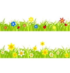 daffodils in grass vector image vector image