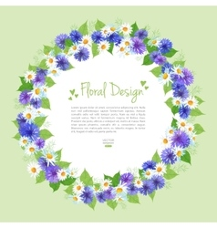 Flowers Wreath Card vector image vector image