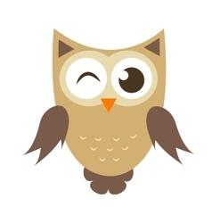 Funny cartoon owl icon vector