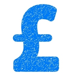 Pound sterling grainy texture icon vector
