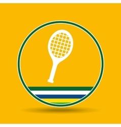 Racket tennis sport badge icon vector