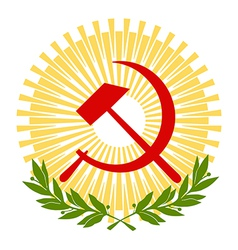sickle and hammer vector image
