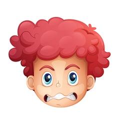 A face of a boy vector image