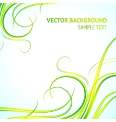 Abstract green lines vector image