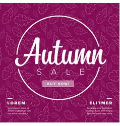 autumn big sale retro flyer vector image
