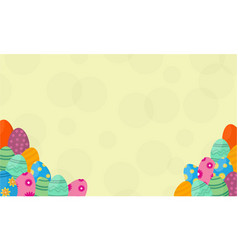 Background of easter egg vector