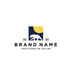 Bear logo design vector