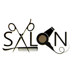 beauty salon design with a tool vector image