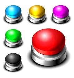 Big button set vector image