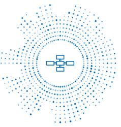 Blue line business hierarchy organogram chart vector