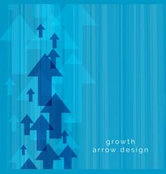 Blue upward arrow background vector