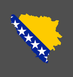 bosnia and herzegovina flag and map vector image