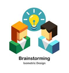 Brainstorming isometric vector
