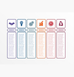 business infographics template with 6 options vector image