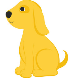 cartoon yelow dog vector image