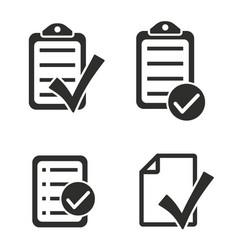 checklist icon set vector image