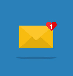 concept of incoming email message vector image