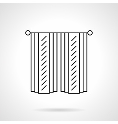 Cotton curtains flat line icon vector image