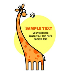 cute giraffe vector image