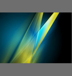 dark blue and yellow abstract shiny background vector image