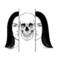 death in guise a woman hand drawn vector image