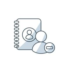 Directory book with social medica icon vector