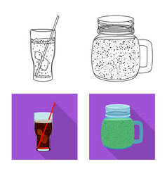 drink and bar symbol set vector image