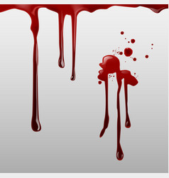 dripping blood and set of vector image