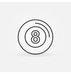Eight ball icon vector image